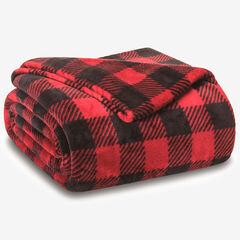 Winter Nights Plush Blanket, BUFFALO CHECK