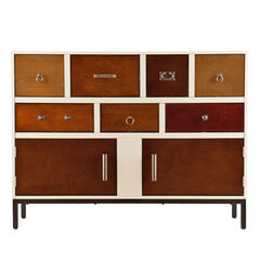 Contemporary Multi-Colored Wood Console Cabinet,