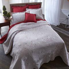 Bernadette Embroidered Bedspread, IVORY GARNET