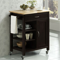 Black Kitchen Cart,
