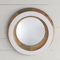 Laney Round Wooden Mirror,