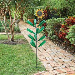 Glass Bottle Sunflower,