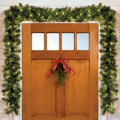 Cordless Battery-Operated LED 6' Pine Garland ,
