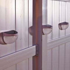 Motion-Activated Outdoor Solar Sconces, Set of 4,