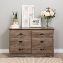 Salt Spring Children's 6-Drawer Dresser, Drifted Gray,