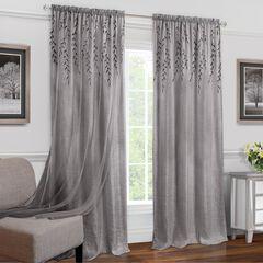 Willow Rod Pocket Window Curtain Panel,