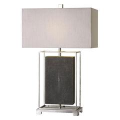 Sakana Gray Textured Table Lamp,