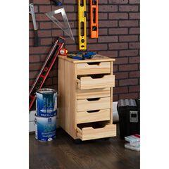 Croghan Six Drawer Rolling Storage Cart,