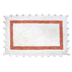 Pompom Cotton Bath Rug, ROSE