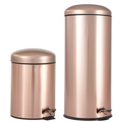 Set of 2 Step Trash Cans ,