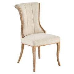 Upholstered Flared-Back Dining Chairs, Set of 2,