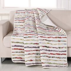 Greenland Home Fashions Bella Ruffle Quilted Throw Blanket,