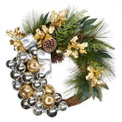 Silver & Gold Wreath,