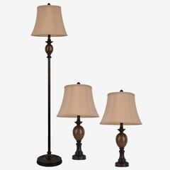 Classic Trio Lamp Set,
