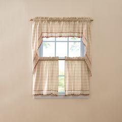 Salem Tier Curtain, ECRU TOAST