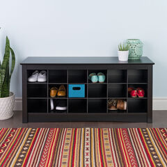 Shoe Storage Cubbie Bench ,