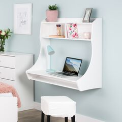 Compact Hanging Desk, White,
