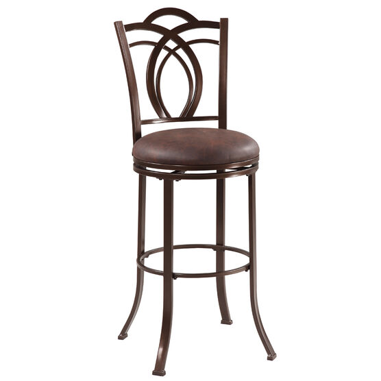 Calif Metal Bar Stool, COFFEE BROWN