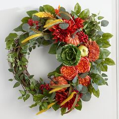 26' Harvest Cabbage Wreath,