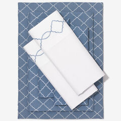 Nolita 6-Pc. Microfiber Sheet Set, DENIM TRELLIS