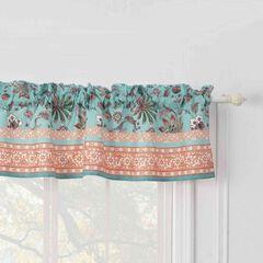 Audrey Turquoise Window Valance,