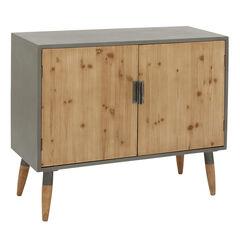 Brown Wood Modern Cabinet, 34x39x17,