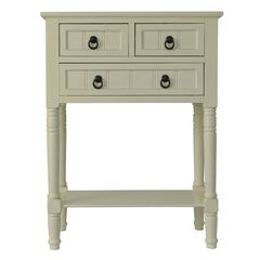 Antique 3 Drawer Console,