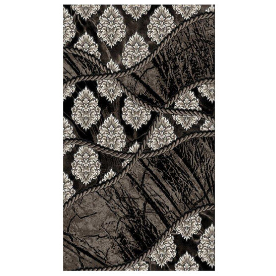 Jewel 5' x 8' Area Rug, BROWN BLACK