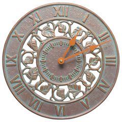 """Ivy Silhouette 12"""" Indoor Outdoor Wall Clock,"""