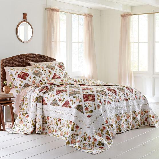 Catherine Reversible Floral Bedspread,