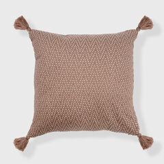 Herringbone Euro Tassel Throw Pillow,