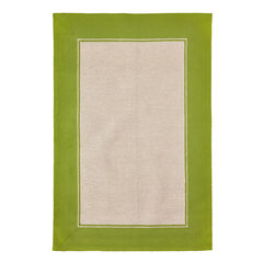 Basic Border Indoor/Outdoor Rug, GREEN