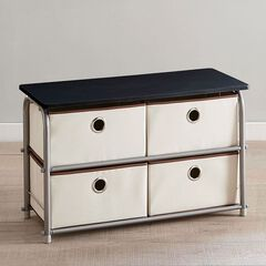 Eve 4-Drawer Soft Storage Cart,