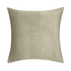 Velvet Embroidered Chevron Decorative Pillow ,