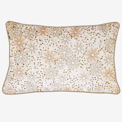 Metallic Floral Decorative Pillow,