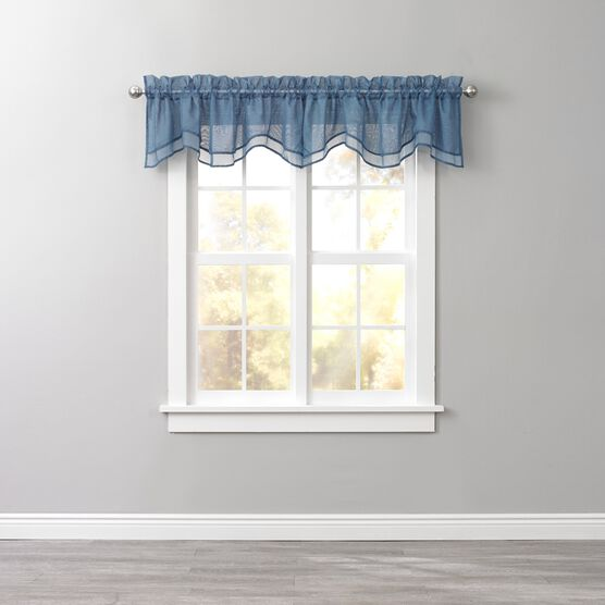 BH Studio Sheer Voile Layered Valance,