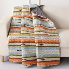 Barefoot Bungalow Painted Desert Quilted Throw Blanket,