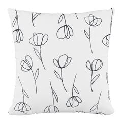 "Contoured Tulips Fluffed Polyester 18""Sq. Pillow,"