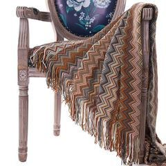 """Battilo Home Bohemian Knit Throw Blanket with Fringe Super Soft Striped Blanket for Couch, Sofa, Bed, Chair, 60"""" x 50"""","""
