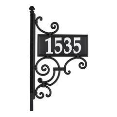 Nite Bright Ironwork Reflective Address Post Sign,
