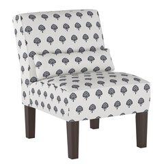 Block Paisley Armless Chair,