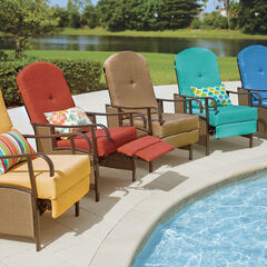 Oversized Outdoor Recliner with Cushion,