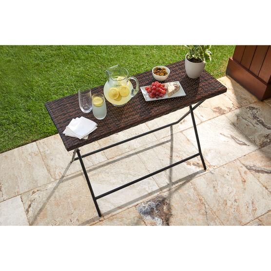 Santiago Folding Table, BROWN