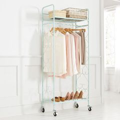 Scrolled Metal Rolling Closet,
