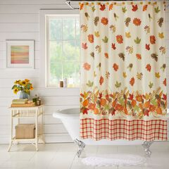 13-Pc. Vintage Floral Shower Curtain Set,