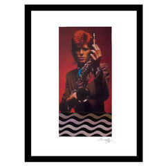 David Bowie Saxophone - Red / Brown - 14x18 Framed Print,