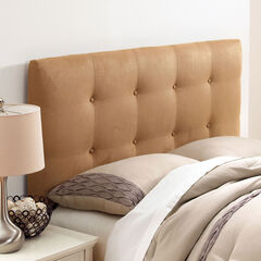 Upholstered Tufted Headboard in Microsuede,