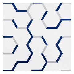 Retro 12x12 Self Adhesive Vinyl Floor Tile - Geo Puzzle - 20 Tiles/20 sq. ft.,