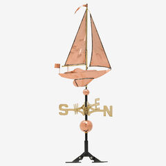 Copper Sailboat Weathervane,