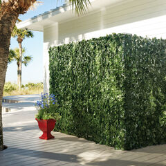 High Faux Greenery Privacy Screen,